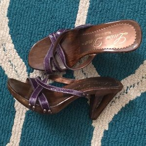 Luisa D'orio 7 38 Italy purple clog cut out heels